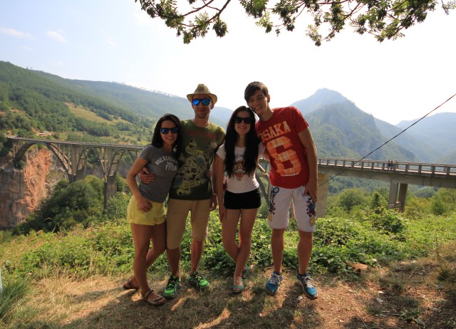 Sweet sweet picture of us in Žablijak, Montenegro near Tara River Canyon whoch is the second biggest in the world [after The Grand Canyon]